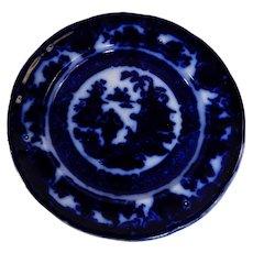 Flow Blue Plate The Temple Pattern by Podmore Walker