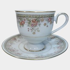 Noritake Ireland Morning Jewel Footed Cup and Saucer