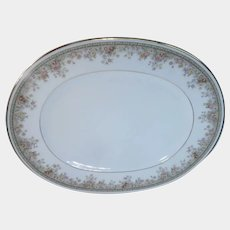 "Noritake Ireland Morning Jewel Oval Serving Platter 13 1/2"""