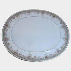 "Noritake Ireland Morning Jewel Oval Serving Platter 15"""
