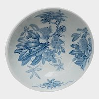 BWM Blue and White Orchids Transferware Bowl Kew