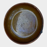 Early Redware Dish or Shallow Pie Pan