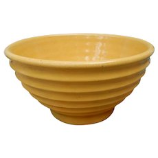 Vintage Yellow Beehive Ribbed Mixing Bowl