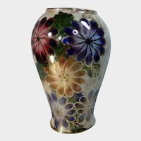 Oldcourt Ware Hand Painted Vase England Circa 1950's