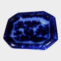 Antique William Ridgway Flow Blue Vegetable Bowl Penang Pattern
