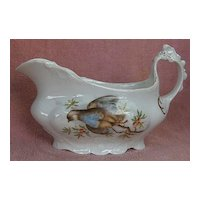 Humming Bird or Bird of Paradise Gravy Boat