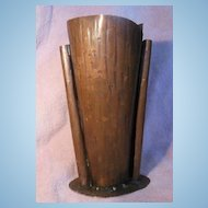 Arts and Crafts Inspired Craftsmen, Inc. #338 Handmade Utah Copper Vase