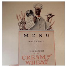 1919 Cream of Wheat Magazine Advertisement Breakfast Menu Edward V. Brewer