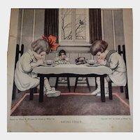 1917 Cream of Wheat Magazine Advertisement Saying Grace Henry Wierman