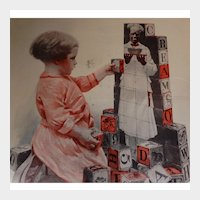 1919 Cream of Wheat Magazine Advertisement Girl with Blocks W. V. Cahill