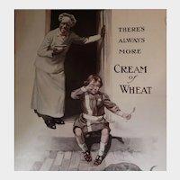 1920 Cream of Wheat Magazine Advertisement There's Always More George Gibbs
