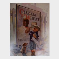1924 Cream of Wheat Magazine Advertisement Counting His Pennies Edward V. Brewer