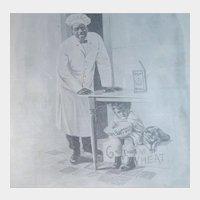 1917 Cream of Wheat Magazine Advertisement Thinks He's Hidin Edward V. Brewer