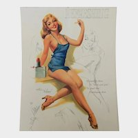 12 Month Ted Withers Artist's Sketch Pad 1953 Pin Up-Girl Calendar
