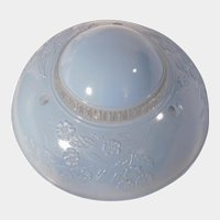 Vintage Light Blue and Clear Glass 3 Chain Ceiling Light Shade