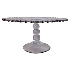 Imperial Glass Candlewick Large 3 Ball Cake Stand 11""