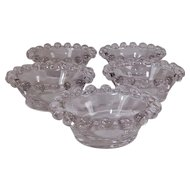 "Set of Five Imperial Glass Candlewick 2"" Salts"