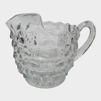 Fostoria Ice Lip American Clear Glass Jug Pitcher Pattern 2056