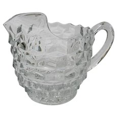 Fostoria Ice Lip American Clear Glass Jug Pitcher Pattern 2056