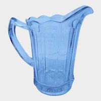 Tall Clear Glass Imperial Pitcher Colonial Pattern