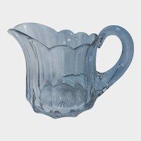 Heisey Clear Glass Milk Pitcher Priscilla Pattern Stem 351