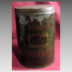 Early Advertising Maxwell House Coffee Tin or Can with Paper Label