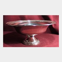 Attractive Sterling Silver Footed Bowl or Compote