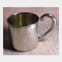 Vintage Sterling Silver Baby's Mug