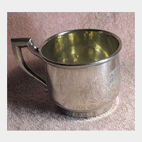 Lovely Vintage Sterling Silver Baby's Mug With Initials MJR