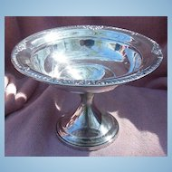Ornate Sterling Silver Compote by Fisher Silversmiths Jersey City, NJ