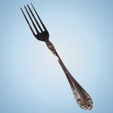 """Rose Pattern 1898 Wallace Sterling Silver 6 ¼"""" Fork"""
