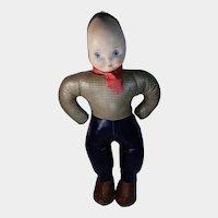 Vintage Vinyl Stuffed Mask Face Boy Doll