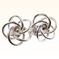 Signed Coro Atomic Age Earrings