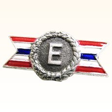 "WWII Army Navy E Award Lapel Pin 7/8"" size"