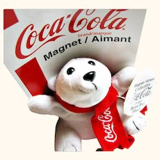 Official Coca Cola(R) Polar Bear Bean Bag Toy Magnet