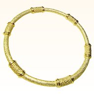 Crown Trifari Golden Rope Bangle Bracelet