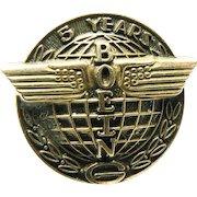 10K Gold Boeing Aeronautics 5 Year Service Pin or Tack