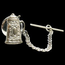 1963 Faux Pewter German Beer Stein Tie Tack