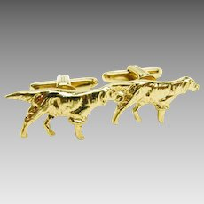 Hunting Dogs On Point Cufflinks by Hickok U S A