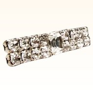 Late 1950s Clear Faceted Stone Bar style Brooch