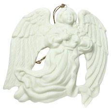 Vintage Bisque Porcelain Angel Ornament