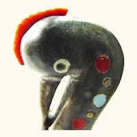 Vintage African Grey Crowned Crane Letter Opener from Uganda