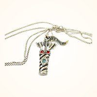Sterling Silver Quiver and Arrows Pendant / Michigan