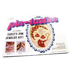 70's Pin-Tastics Bracelet/Earrings/Key Chain Jewelry Craft Kit #2001