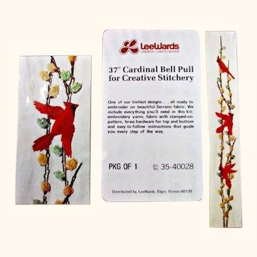 Vintage Unopened LeeWards Cardinal Bell Pull Craft Kit