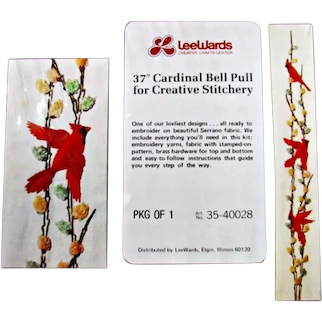 Vintage Unopened LeeWards Cardinal Bell Pull Craft Kit