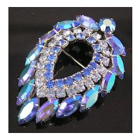 Sarah Coventry by D&E Minty Blue Lagoon Brooch