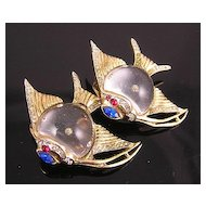 Coro Sterling Jelly Belly 1940's Angel Fish Duette