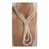 Marcel Boucher Crystal & Baguette Rhinestone Necklace