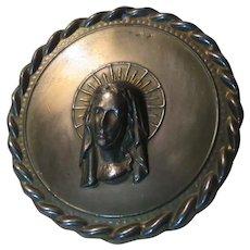 Virgin Mary Metal Wall Medallion Medal